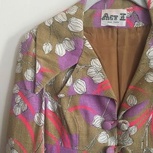 VINTAGE 60's/70's perfect springtime coat sz S/M